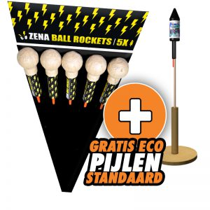 Zena ball rockets - Nu met gratis pijlenstandaard!