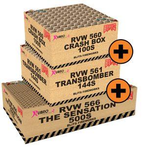 Blits Combideal: Transbomber, Crashbox 100s & Sensation 500